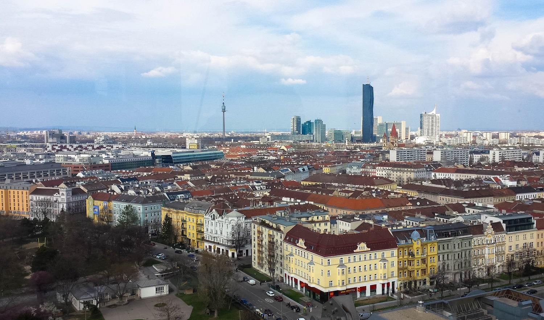 Wien von oben aus dem Riesenrad