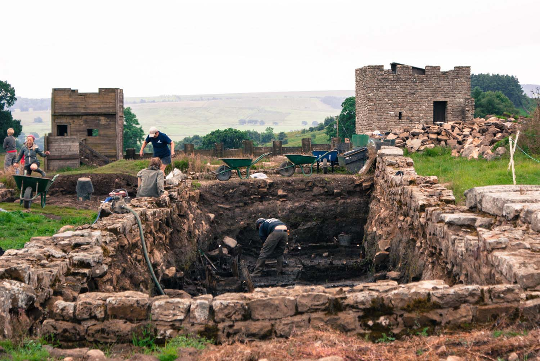Vindolanda Ausgrabungen