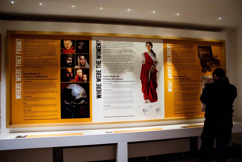 Roman Army Museum Lehrtafeln